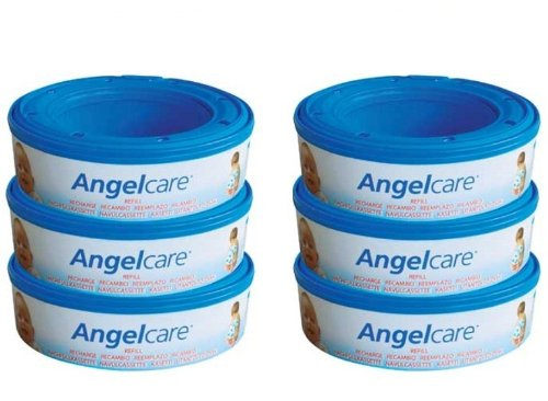 6 X Angelcare Nappy Disposal System Refill Cassettes Wrapper