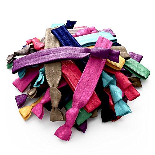 Ribbon Hair Bands No Tangle No Crease Ties - Rainbow Color 30 - Import It  All ae104f65eb4