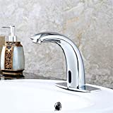 Ling Kitchen Sink Faucets Basin Mixer Faucet Tap Bathroom Faucet Tap Copper Full Automatic Single-Sensing Sensing Infrared Sensor Hand Wash Faucet. Spout Water Pull Out