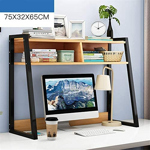 デスク上置き棚 デスクトップストレージオーガナイザー表示シェルフ本棚自立本棚ジュエリー収納デスク棚ラック文学オーガナイザーディスプレイラック 学生本立て 多様放置事務用品収納 (Color : B, Size : 75X32X65CM)