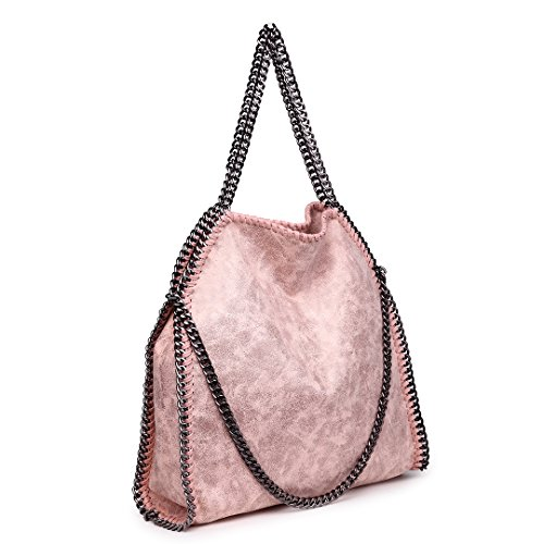 Leather Chain For Shoulder Classical 1760 Handbag Hobo Lulu Miss Nude Design Faux Women Retro Strap wY4SwgxXq