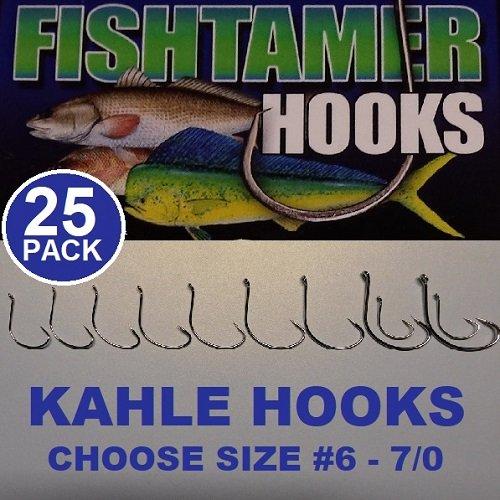 (25pk) Kahle Hooks Sizes #6-7/0 - Super Sharp Fish Tamer Pro Pack (4)