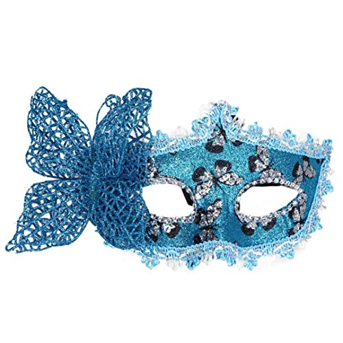 [Miskay Butterfly Mask for Party (Blue)] (Butterfly Costume Ideas For Adults)