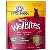 Wellness Soft WellBites Natural Grain Free Dog Treats, Beef & Turkey, 6-Ounce Bag