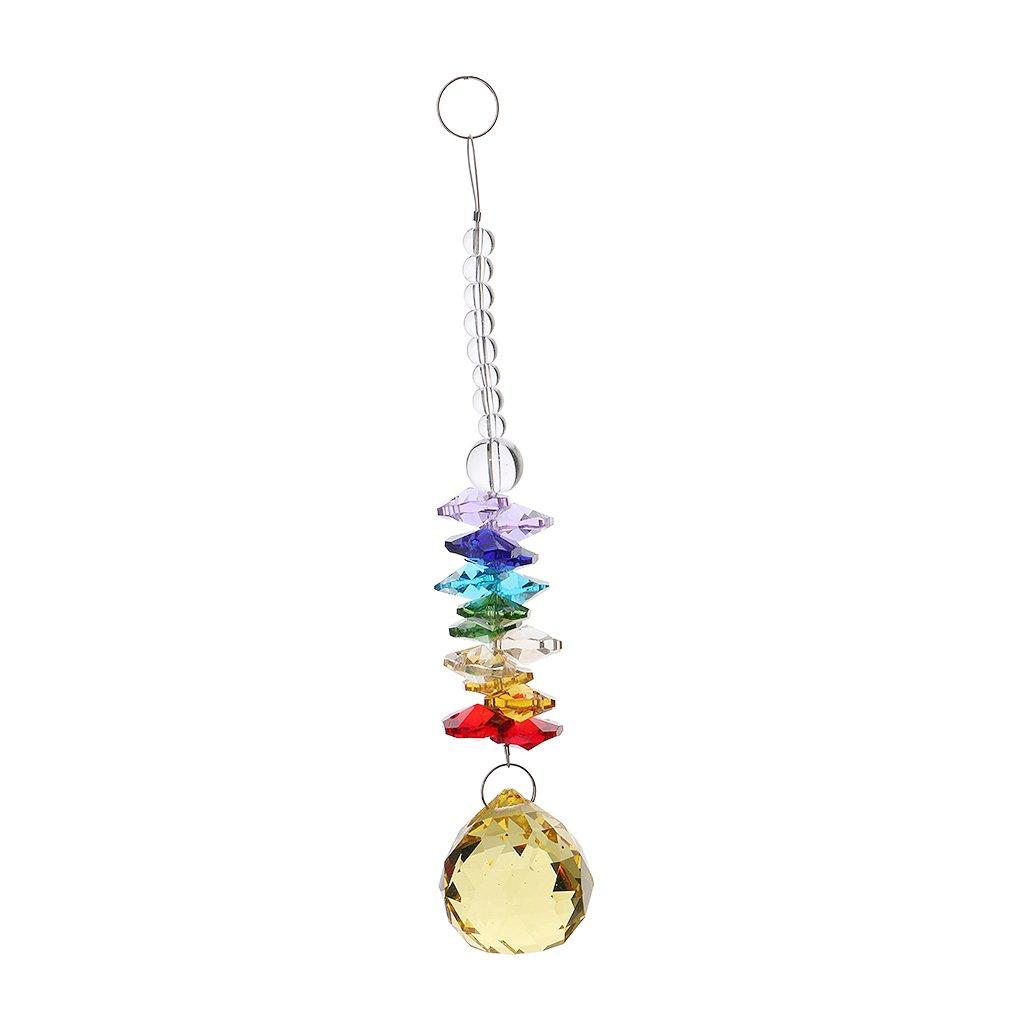 #1 Blesiya Hanging Crystal Glass Bead Prism Suncatcher Rainbow Maker Pendant Car Mirror 9 Styles Available