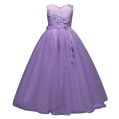 Girls Dresses WanshopR Flower Baby Girl Princess Bridesmaid Pageant Gown Birthday Party Wedding Dress