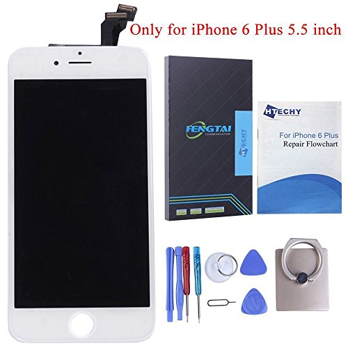 Screen Replacement for iPhone 6PLUS White- SZHSRLCD LCD Touch Display Digitizer Include Free Repair Tools kits & Detailed Instruction with Pictures from SZHSRLCD