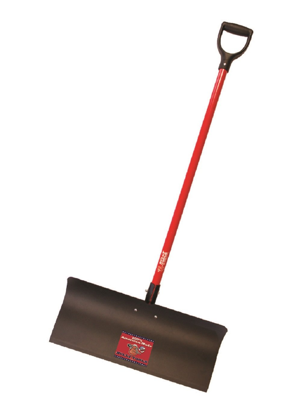 Bully Tools 92817 Steel Snow Pusher with Fiberglass D-Grip Handle, 24'' by Bully Tools