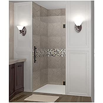 Unidoor Frameless Hinged Shower Door Opening Width 37 38 25 Door