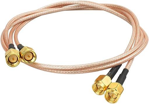 WayinTop 2pcs SMA Macho a SMA Macho Conector Cable de Extensión RG316 WiFi RF Coaxial Coax Cable para Wi-Fi Antena Repetidores Cable de Extensión de ...