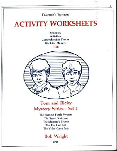 Workbook free high school reading comprehension worksheets : Amazon.com: Tom and Ricky Mystery Series- Set 1(Teacher's Edition ...