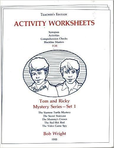 Amazon.com: Tom and Ricky Mystery Series- Set 1(Teacher's Edition ...