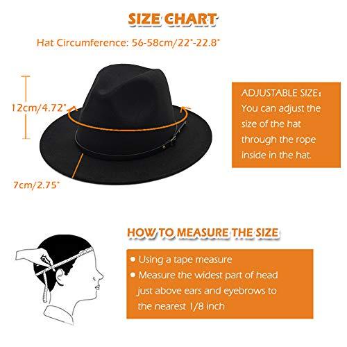 Lisianthus Women Belt Buckle Fedora Hat