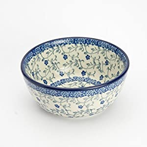 Polish Pottery Cereal Bowl – Forget-me-not 12cm D x 5cm H