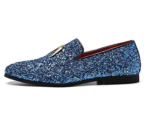 Prom for Oxford Party Footwear Men's Blue XIUWU Men Glittering Shoes Ff1wPFqE