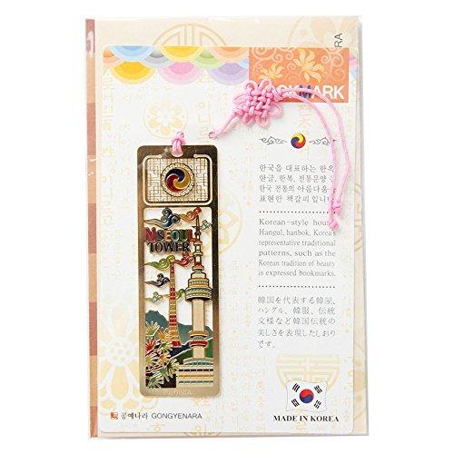 Korean tradition Flat Bookmark N Seoul Tower / Korea souvenir/ Gift