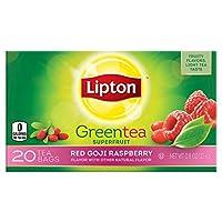 Lipton Green Tea, Red Goji Raspberry 20 count Per Pack (Pack of 6)