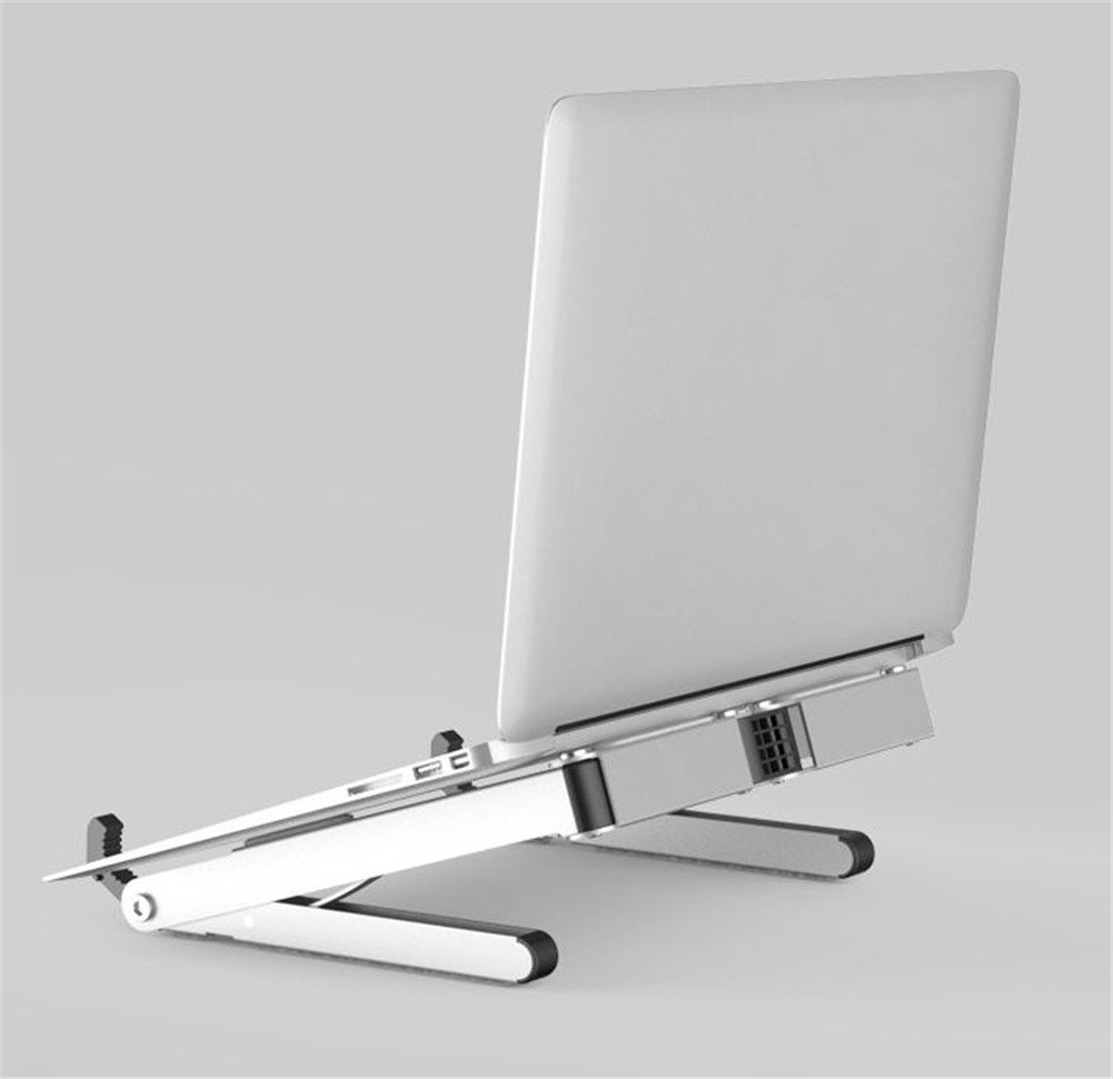 Kangsur Adjustable Laptop Desk Stand Foldable Portable Ergonomic Notebook Holder for Home Office Travel