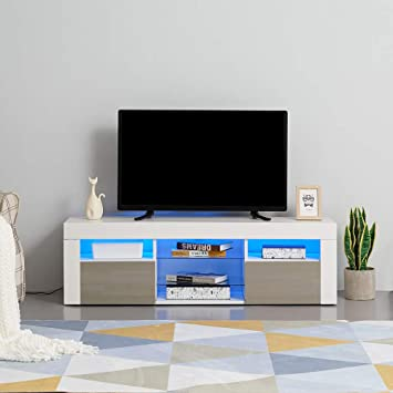 Anaelle Panana - Mueble de TV LED con 4 Compartimentos de ...