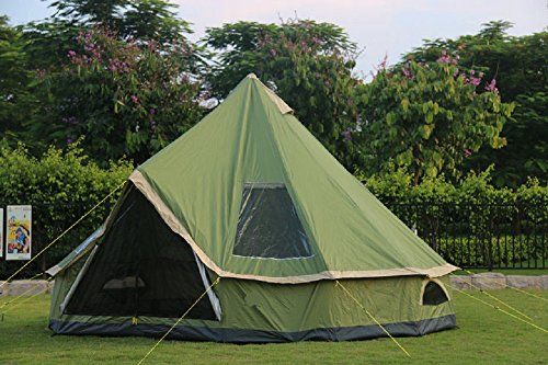 DANCHEL Green Bell Tent, 13ft
