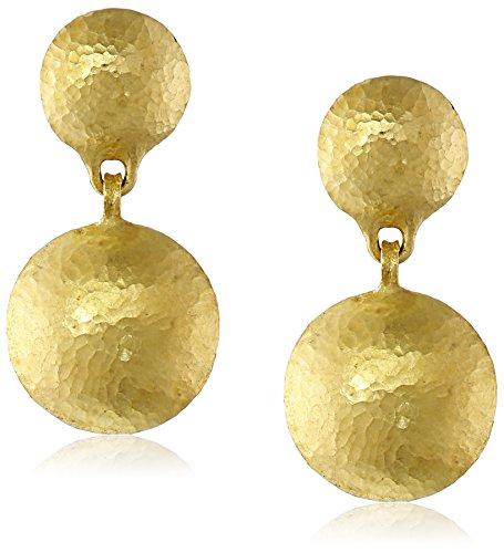 GURHAN Lentil 24k Yellow Gold Double Lentil-Shape Post (Gurhan Jewelry)
