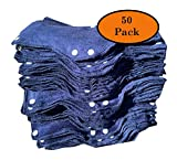 Snap On Hard Hat Sweatband Set Of 50, Hot Weather Head Sweat Accessories - Blue, by AcerPal