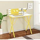 Kings Brand Yellow / White Finish Kids Childrens Computer Writing Desk