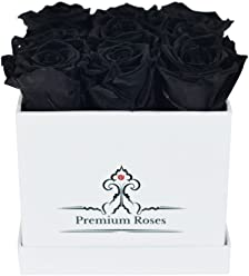 Valentine's Day Collections| Roses with Longevity (Small, Black in White Box)
