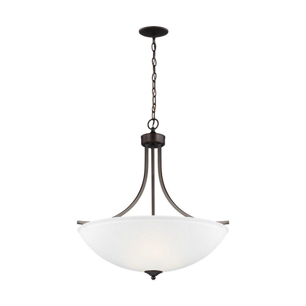 Sea Gull Lighting 6616504-710 Large Four Light Pendant Burnt Sienna