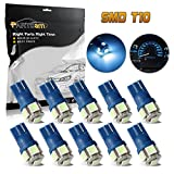99 civic interior led - Partsam T10 194 168 LED Light Interior Dome Map Trunk Cargo Footwell Replacement Bulb Lamp Ice Blue 10PCS