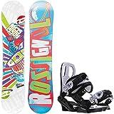 Rossignol Scan Amptek 130cm Youth Snowboard + Sapient Zeus Jr Bindings - Fits Youth Boot Sizes: 4,5,6,7