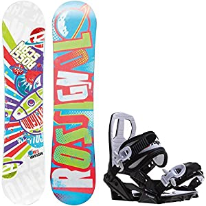 Rossignol Scan Amptek 130cm Youth Snowboard + Sapient Zeus Jr Bindings Fits Youth Boot Sizes: 4,5,6,7