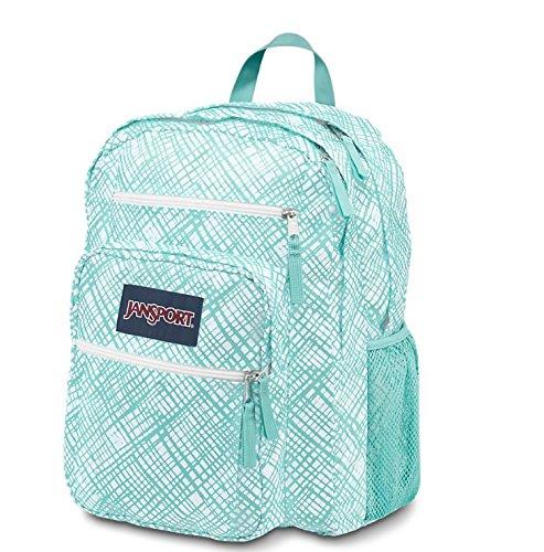 JanSport Big Student Classics Series Backpack - Aqua Dash Jagged Plaids