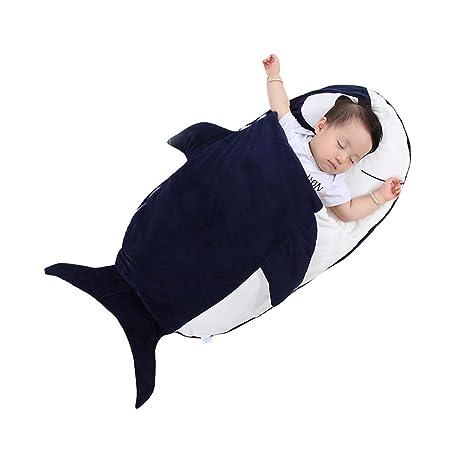 Hada bebé Animal sacos de dormir para bebé Niños Niñas Algodón Bolsa de dormir tiburón Talla