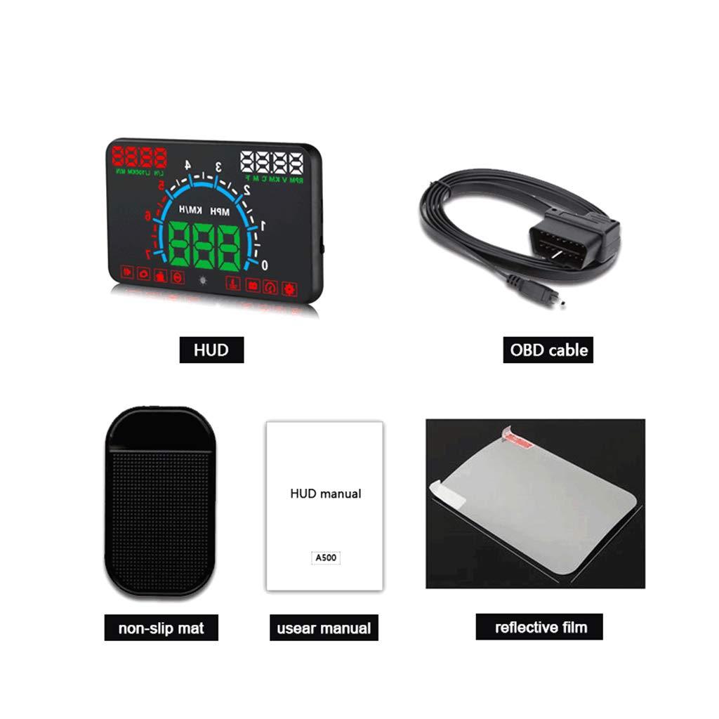Qiman E350 5,8Bildschirm HUD Auto Head Up Display Motor Fehler Kraftstoff Alarm Tacho