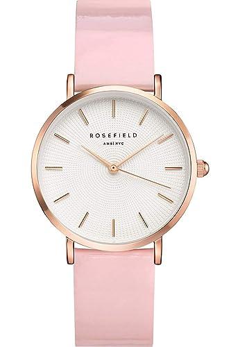Rosefield Reloj Analógico para Mujer de Cuarzo con Correa en Plástico SHPWR-H37: Amazon.es: Relojes