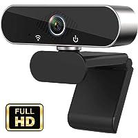 JFMShop Webcam HD 1080p Web Camera, USB PC Computer Webcam with Microphone, Laptop Desktop Full HD Camera Video Webcam…