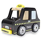 Wooden Wheels Natural Beech Wood Taxi Cab by Imagination Generation