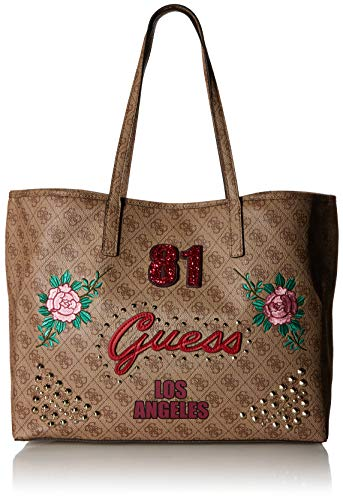 GUESS Vikky Fashion '81 Large Tote, Brown