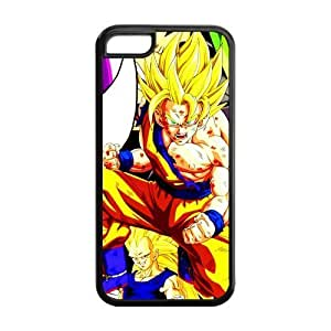 5C Case, iPhone 5C Case - Fashion Style New Dragon Ball Painted Pattern TPU Soft Cover Case for iPhone 5C (Black/white)