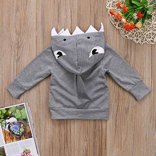 0a93f208d7c1 C M Wodro Unisex Baby Autumn Winter Shark Hooded Sweatshirt Boys ...