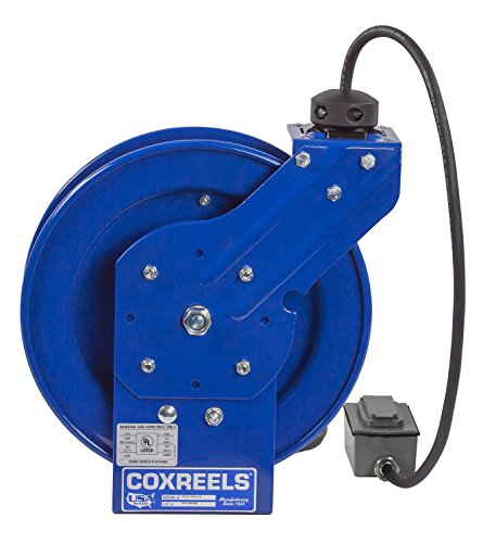 Coxreels EZ-PC13-5012-F Safety Series Spring Rewind SJO Power Cord Reel, 115 Volts, 20 Amp, 50' Length by Coxreels (Image #3)