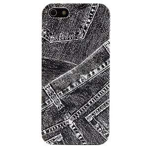 Los pantalones vaqueros de diseño caso duro del patrón para el iphone 5/5s