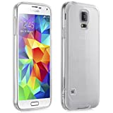 Fosmon® Samsung Galaxy S5 (HYBO-FENDER) Hybrid Protective Bumper Grip Case Cover for 2014 New Samsung Galaxy S5 SV - Fosmon Retail Packaging (Transparent Clear)