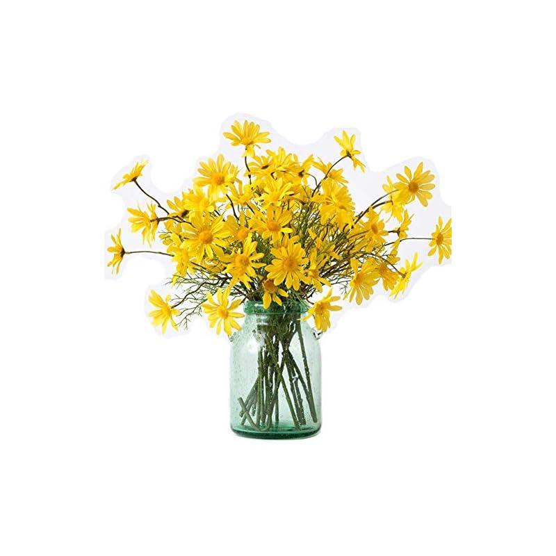 """silk flower arrangements artfen 10pcs artificial daisy flowers flower arrangements for home hotel office wedding party garden craft art decor each approx 21"""" high no vase yellow"""