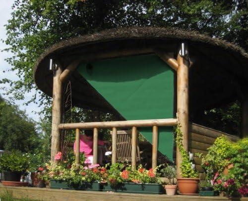 2, 27 m ángulo recto Triangle Green pantalla para lámpara lateral para estructura de madera: Amazon.es: Jardín