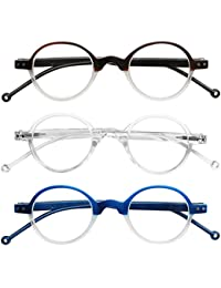 READING GLASSES 3 Pack High Quality Affordable Round Two Tone Style Reading Glasses for Men and Women