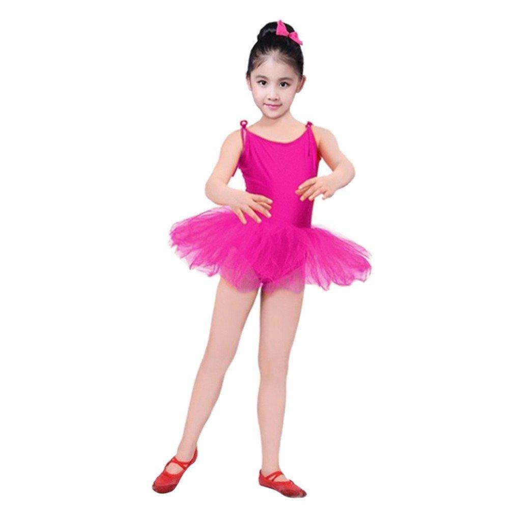 Topgrowth Tutu Danza Ragazza Cinghia Garza Body Danza Bimba Calzamaglia Vestito da Balletto Body Vestito da Discoteca Abiti XYY80224513