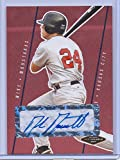 """MIKE MOUSTAKAS 2007 JUSTIFIABLE RED """"CERTIFIED AUTOGRAPHED"""" ROOKIE CARD #JF-29 W/H TOP LOADER! KANSAS CITY ROYALS!"""
