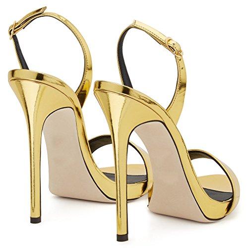 Peep Sandalias Zapatos De Eu38 yellow La Bomba a Ladies Clover Toe Corte Sexy Lucky eu42 Clásica Alto Mujeres 41 Aguja Shoes Tacón EqfOCxw